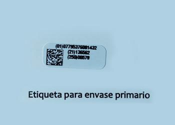 Etiqueta para envase primario